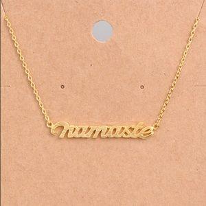 NWT Faux Gold Namaste Yoga Layering Necklace